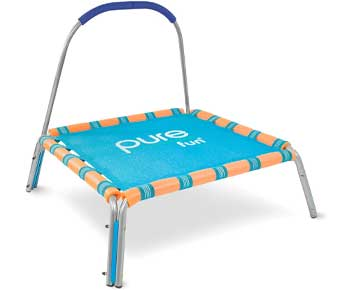 Pure-Fun-38-inch-Kids-Jumper-Bungee-Trampoline-with-Handrail
