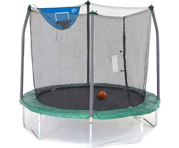 Skywalker-Trampolines-8-Foot-Jump-N-Dunk-Trampoline-with-Enclosure-Net