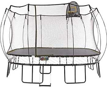 Springfree-Trampoline---13ft-Jumbo-Square-With-Basketball-Hoop-and-Ladder