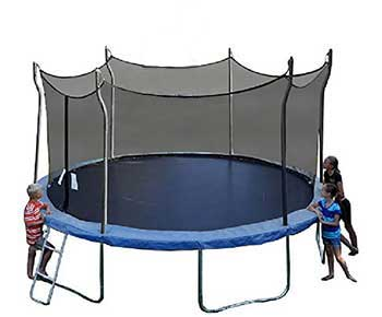 Propel-Trampolines-P14D-BE-Trampoline-with-Enclosure,-14'-Round,-Blue