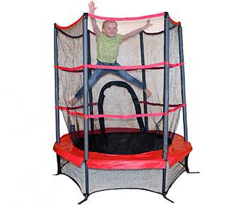 Propel-Trampolines-PTS55-RE-Junior-Trampoline-with-Enclosure,-55,-Red