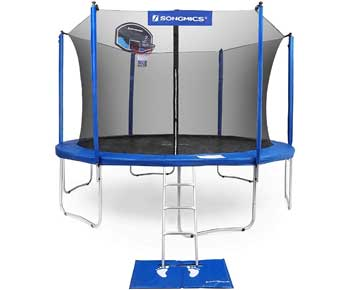 SONGMICS-Trampoline-with-Enclosure-for-Kids-with-Basketball-Hoop